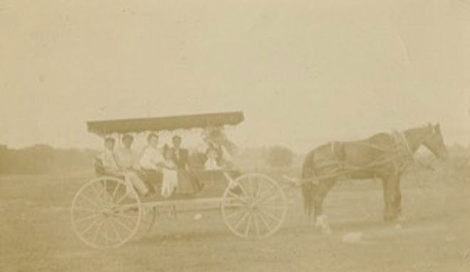 Adele,Bud & parents-On their way to Ft. Ticonderoga- 1902- 2